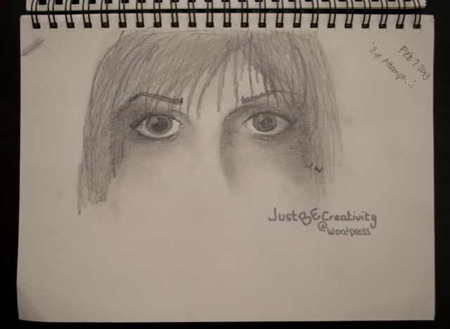 Eye Attempt... Graphite on Paper. February 7, 2013