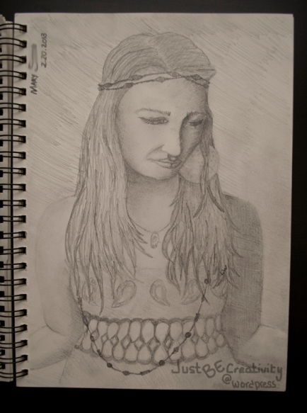 Mary. Graphite on Paper. February 20, 2013