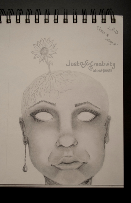 Seed of Insight. Graphite on Paper. February 8, 2013