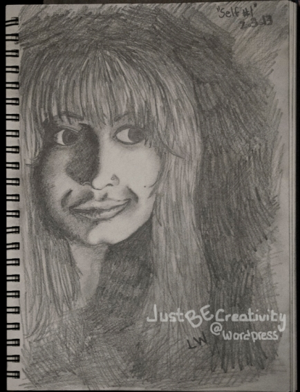 Self. Graphite on Drawing Paper. February 3, 2013.