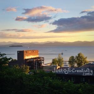 View of Lake Champlain at Dusk.